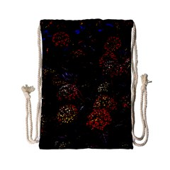 Floral Fireworks Drawstring Bag (small)