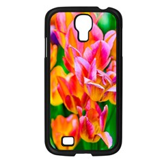 Blushing Tulip Flowers Samsung Galaxy S4 I9500/ I9505 Case (black)
