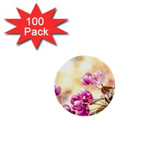 Paradise Apple Blossoms 1  Mini Buttons (100 Pack)
