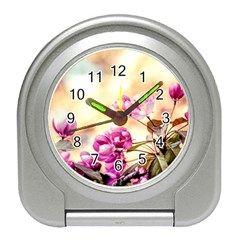 Paradise Apple Blossoms Travel Alarm Clock by FunnyCow