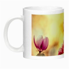 Paradise Apple Blossoms Night Luminous Mugs by FunnyCow