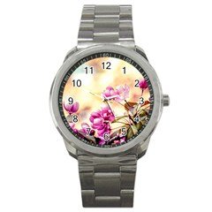 Paradise Apple Blossoms Sport Metal Watch by FunnyCow
