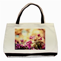 Paradise Apple Blossoms Basic Tote Bag by FunnyCow