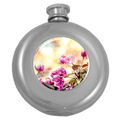 Paradise Apple Blossoms Round Hip Flask (5 Oz) by FunnyCow