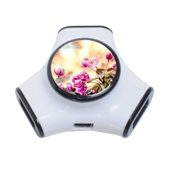 Paradise Apple Blossoms 3 Port Usb Hub by FunnyCow
