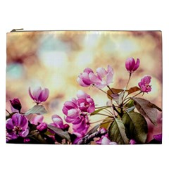 Paradise Apple Blossoms Cosmetic Bag (xxl) by FunnyCow