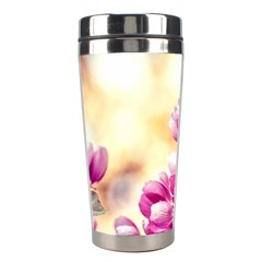 Paradise Apple Blossoms Stainless Steel Travel Tumblers by FunnyCow