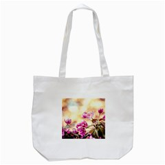 Paradise Apple Blossoms Tote Bag (white) by FunnyCow