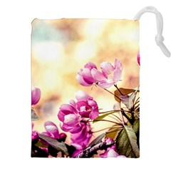 Paradise Apple Blossoms Drawstring Pouch (xxl)