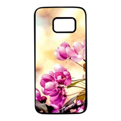 Paradise Apple Blossoms Samsung Galaxy S7 Black Seamless Case by FunnyCow