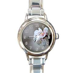 Rainy Day Of Hanami Season Round Italian Charm Watch by FunnyCow