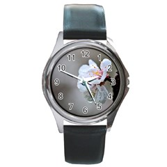 Rainy Day Of Hanami Season Round Metal Watch by FunnyCow