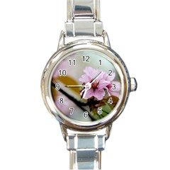Soft Rains Of Spring Round Italian Charm Watch by FunnyCow
