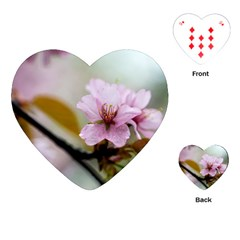 Soft Rains Of Spring Playing Cards (heart) by FunnyCow