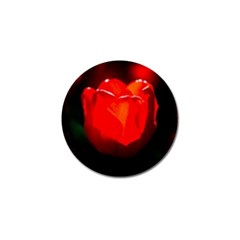 Red Tulip A Bowl Of Fire Golf Ball Marker (4 Pack)