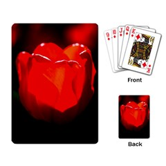 Red Tulip A Bowl Of Fire Playing Cards Single Design by FunnyCow