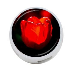Red Tulip A Bowl Of Fire 4 Port Usb Hub (one Side) by FunnyCow