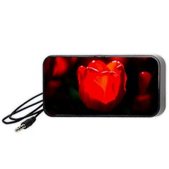 Red Tulip A Bowl Of Fire Portable Speaker by FunnyCow
