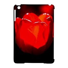Red Tulip A Bowl Of Fire Apple Ipad Mini Hardshell Case (compatible With Smart Cover) by FunnyCow