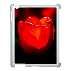 Red Tulip A Bowl Of Fire Apple Ipad 3/4 Case (white) by FunnyCow
