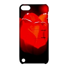Red Tulip A Bowl Of Fire Apple Ipod Touch 5 Hardshell Case With Stand
