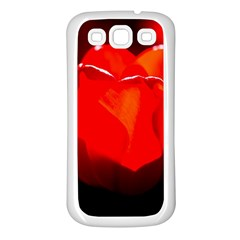Red Tulip A Bowl Of Fire Samsung Galaxy S3 Back Case (white) by FunnyCow