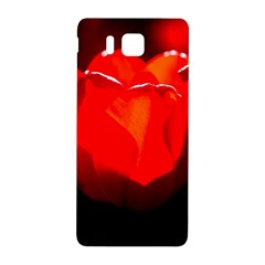 Red Tulip A Bowl Of Fire Samsung Galaxy Alpha Hardshell Back Case by FunnyCow