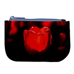 Red Tulip A Bowl Of Fire Large Coin Purse