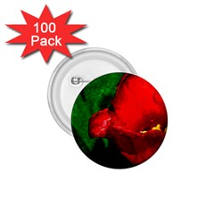 Red Tulip After The Shower 1 75  Buttons (100 Pack)  by FunnyCow