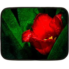 Red Tulip After The Shower Fleece Blanket (mini)