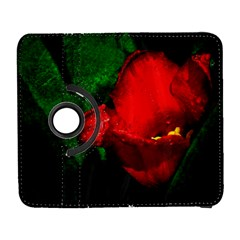 Red Tulip After The Shower Samsung Galaxy S  Iii Flip 360 Case by FunnyCow