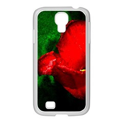 Red Tulip After The Shower Samsung Galaxy S4 I9500/ I9505 Case (white) by FunnyCow