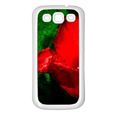 Red Tulip After The Shower Samsung Galaxy S3 Back Case (white)