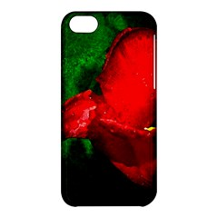 Red Tulip After The Shower Apple Iphone 5c Hardshell Case by FunnyCow