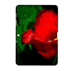 Red Tulip After The Shower Samsung Galaxy Tab 2 (10 1 ) P5100 Hardshell Case
