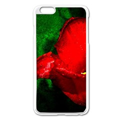 Red Tulip After The Shower Apple Iphone 6 Plus/6s Plus Enamel White Case by FunnyCow
