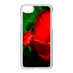 Red Tulip After The Shower Apple Iphone 7 Seamless Case (white) by FunnyCow