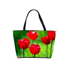 Red Tulip Flowers, Sunny Day Classic Shoulder Handbag by FunnyCow