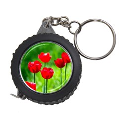 Red Tulip Flowers, Sunny Day Measuring Tape by FunnyCow