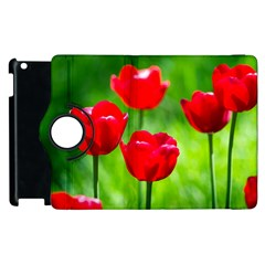 Red Tulip Flowers, Sunny Day Apple Ipad 2 Flip 360 Case