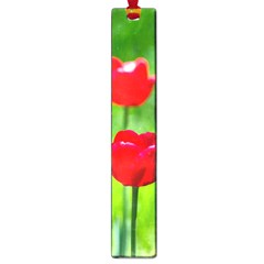 Red Tulip Flowers, Sunny Day Large Book Marks by FunnyCow