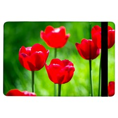 Red Tulip Flowers, Sunny Day Ipad Air Flip by FunnyCow