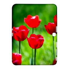 Red Tulip Flowers, Sunny Day Samsung Galaxy Tab 4 (10 1 ) Hardshell Case  by FunnyCow