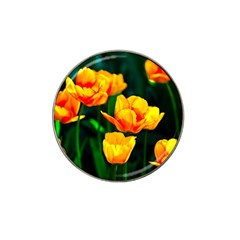 Yellow Orange Tulip Flowers Hat Clip Ball Marker by FunnyCow
