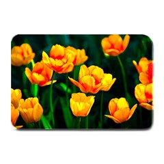 Yellow Orange Tulip Flowers Plate Mats by FunnyCow