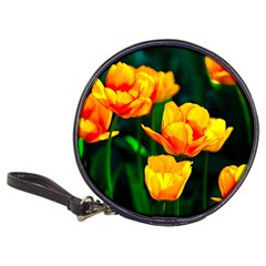 Yellow Orange Tulip Flowers Classic 20 Cd Wallets by FunnyCow