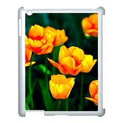 Yellow Orange Tulip Flowers Apple Ipad 3/4 Case (white) by FunnyCow