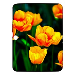 Yellow Orange Tulip Flowers Samsung Galaxy Tab 3 (10 1 ) P5200 Hardshell Case  by FunnyCow