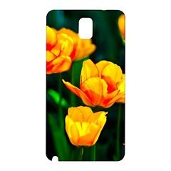 Yellow Orange Tulip Flowers Samsung Galaxy Note 3 N9005 Hardshell Back Case by FunnyCow