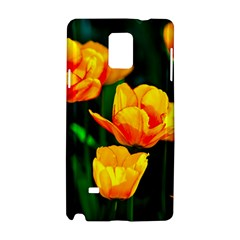 Yellow Orange Tulip Flowers Samsung Galaxy Note 4 Hardshell Case by FunnyCow